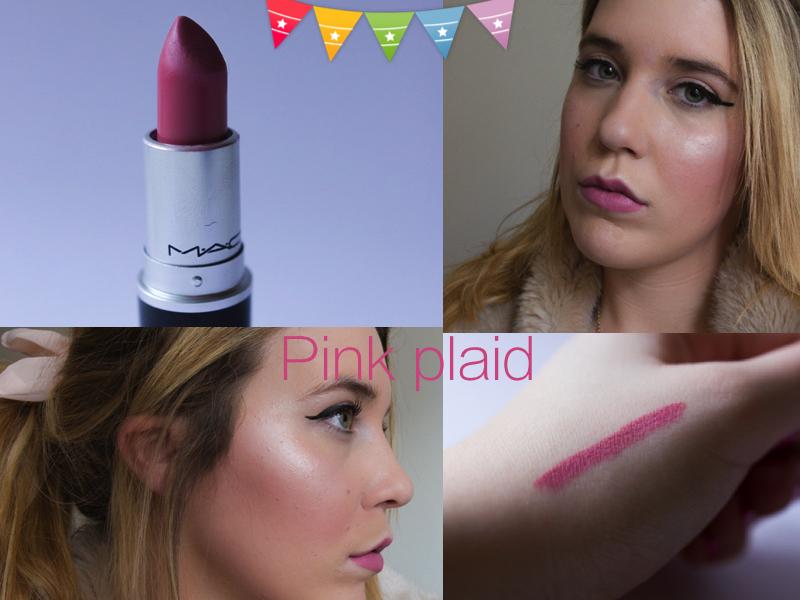 makeup review pink plaid de mac